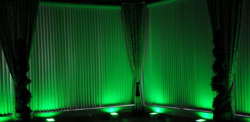 green led lights rental