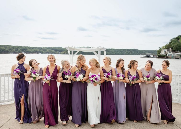 Wedding party by the sea