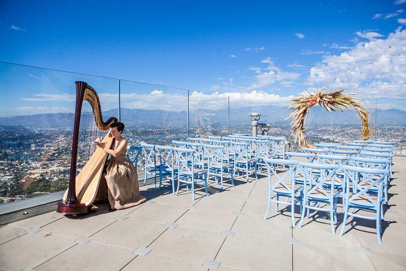 Wedding harpist - Skyspace LA