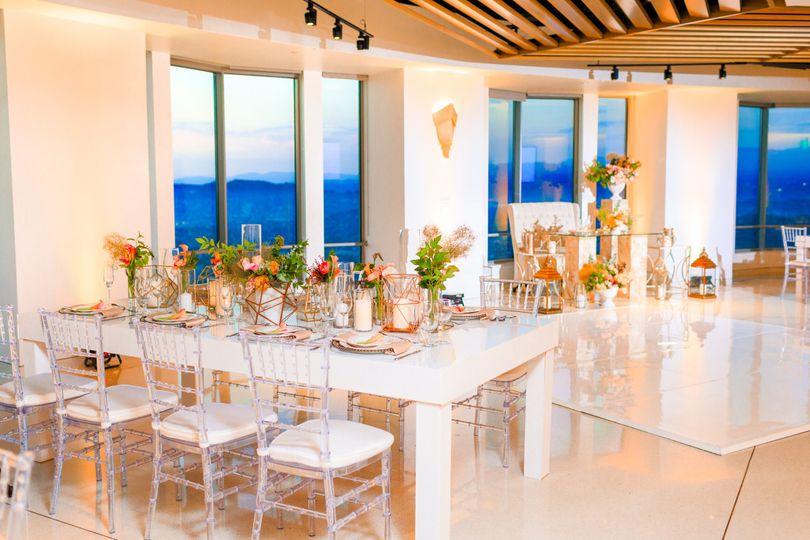 Wedding reception setup - Skyspace LA