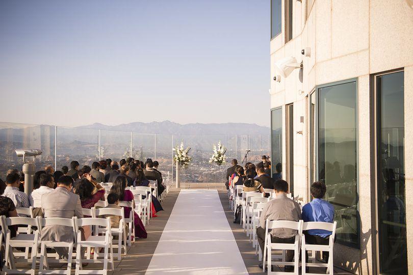 Wedding ceremony setup - Skyspace LA
