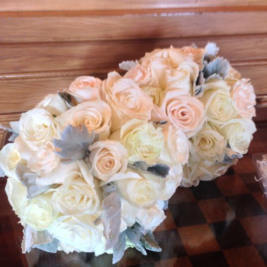 Pale bouquets