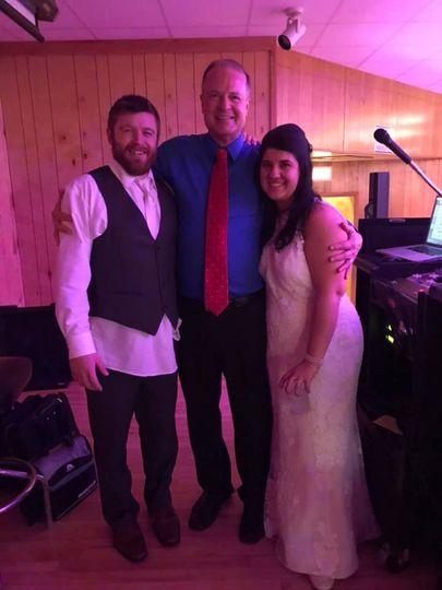Wedding Couple with Bob Holl