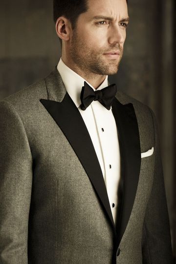 New for 2014 is the Grey Tuxedo available in your choice of styles. Shown here with a grosgrain peak...