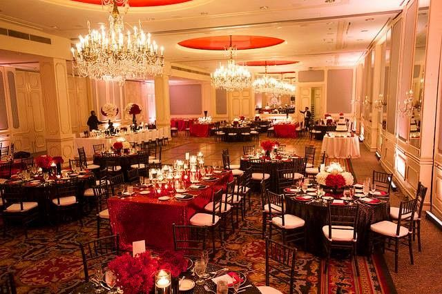 Royal red table cloths
