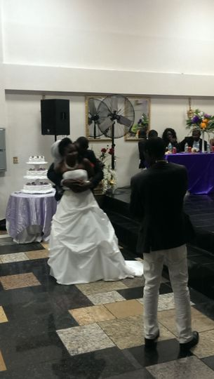 The love between these two is so evident! First dance at a wedding in Laurel, MD
