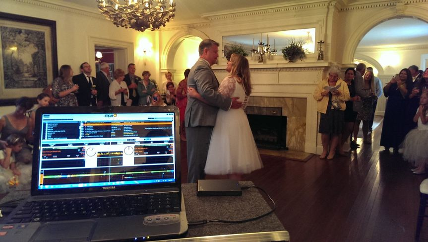 First dance at a lovely intimate wedding at mansion in Bel Air, MD
