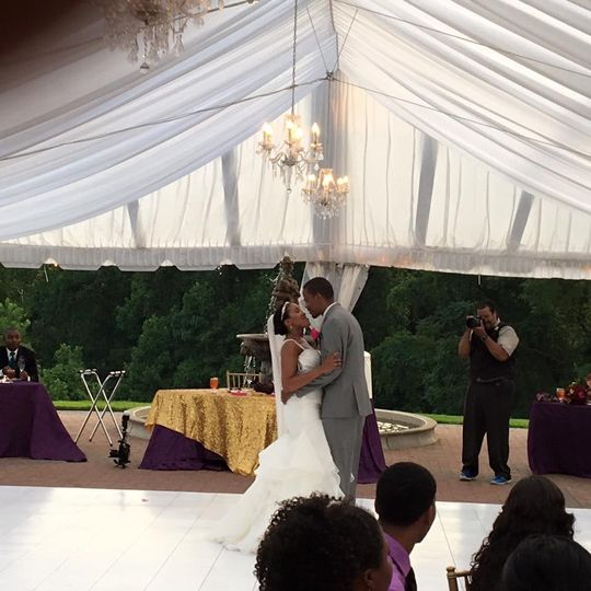 Lovely outdoor Reception at the Oxon Hill Manor. Covenant Child Productions provided sound for the...
