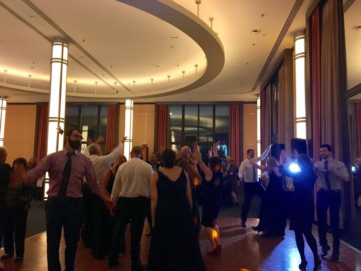Everybody's getting down at this beautiful wedding reception at the Kennedy Center in Washington, DC