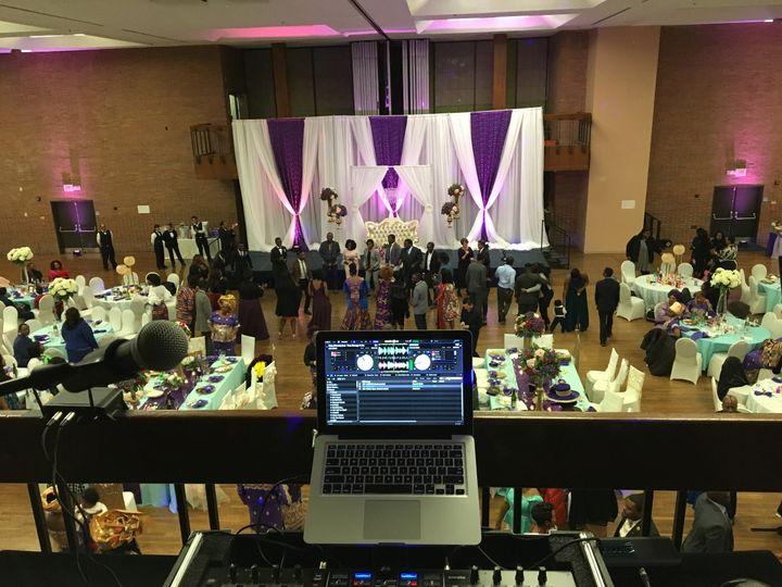 Cool setup overlooking the dancefloor at this beautiful intercultural wedding, at the Armour J....