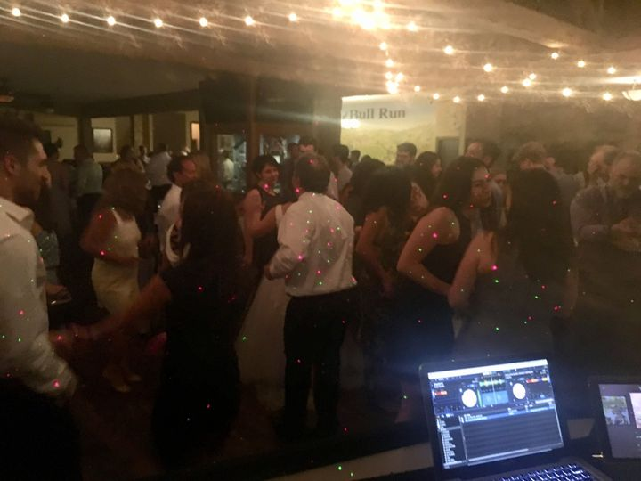 Packed dancefloor at Abigail & Leo's Brazilian-American Wedding in Centreville, VA