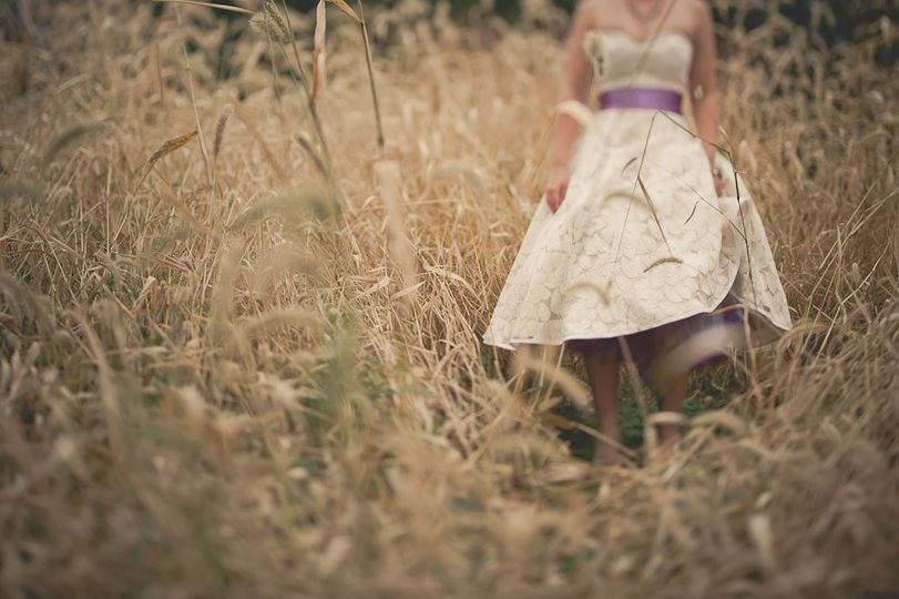 Bride in the fields