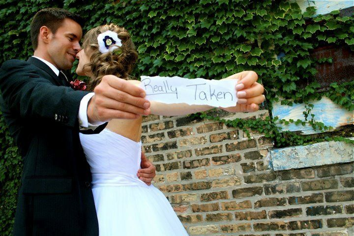 Super Cute Picture of our lovely bride and groom photo by Amy Gilbaugh