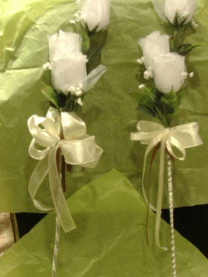 consider long stem silk roses for an elegant look