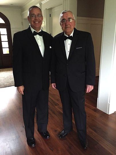 Two men in fine tux