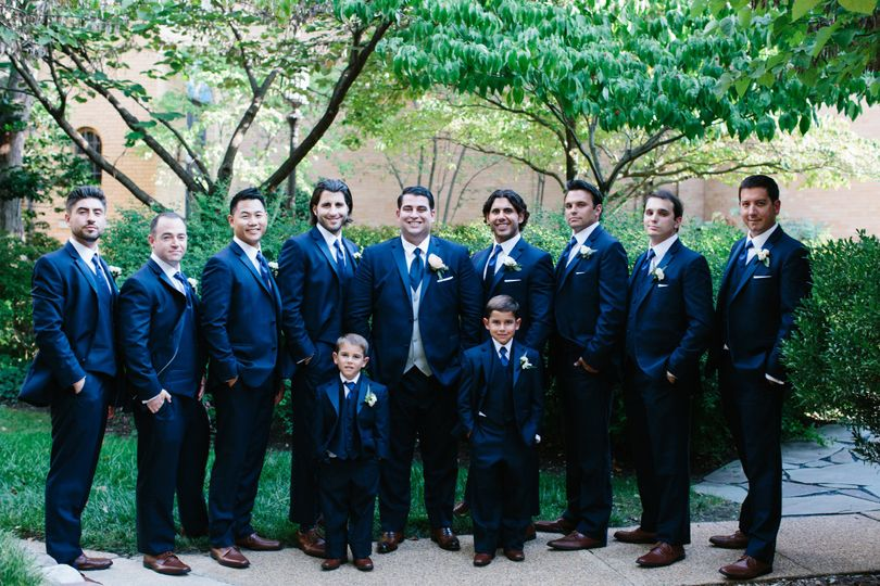The groomsmen and the ring bearers