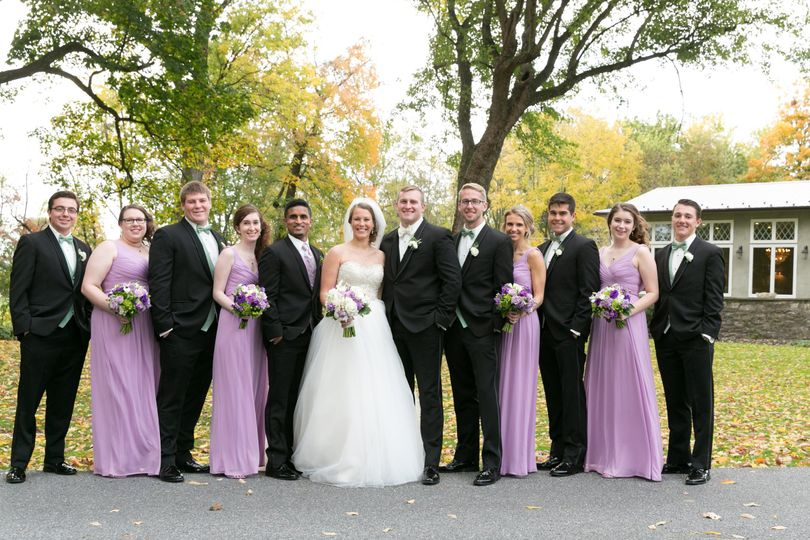 Group photo with the newlyweds