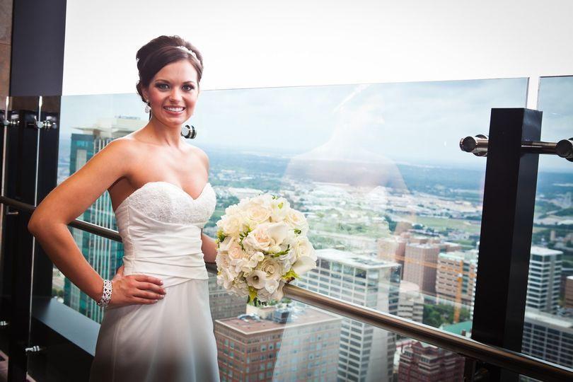 Bride on Ash40 Patio.