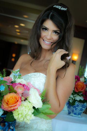 Bride pre-reception.