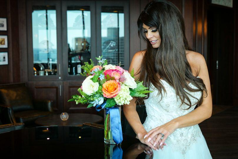 Bride, post-ceremony.