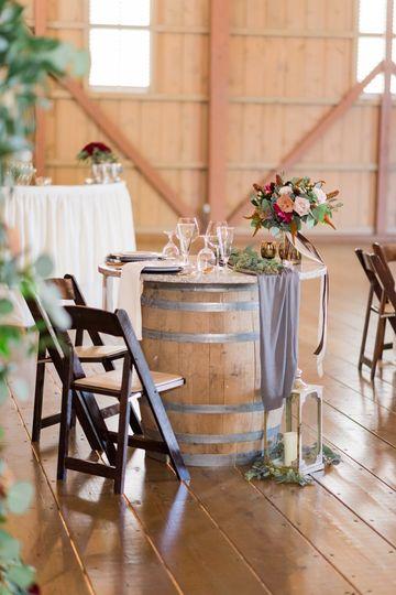 Wine Barrel Sweetheart Table
