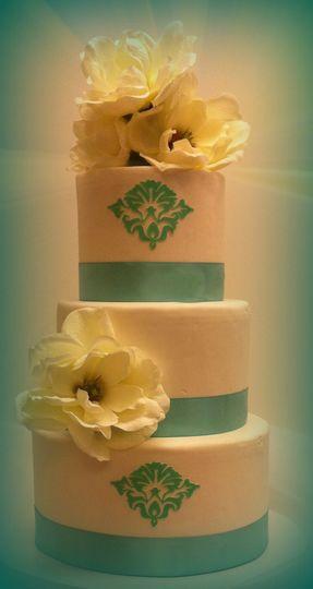 blue wedding cak