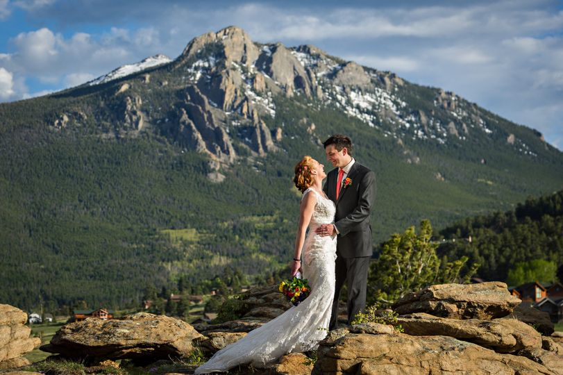 This couple got married at Taharaa Mountain Lodge in Estes Park, Colorado.  This image was taken in...