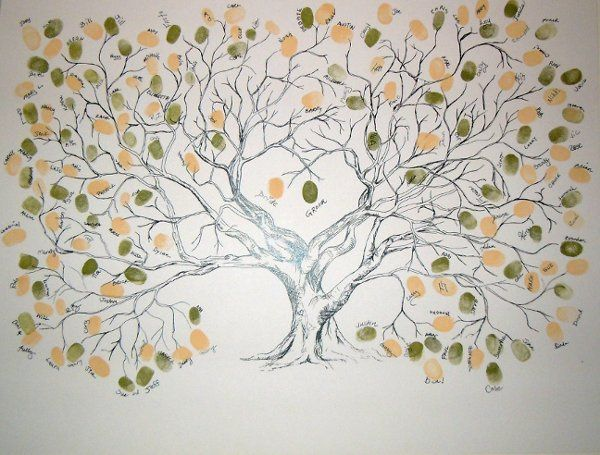 This Fingerprint Wedding Tree is ideal for 100-150 guests to 'leaf' their fingerprint and sign their...
