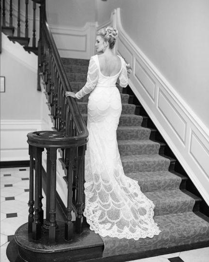 Custom Beaded wedding dress