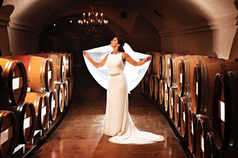 Cellar wedding photo