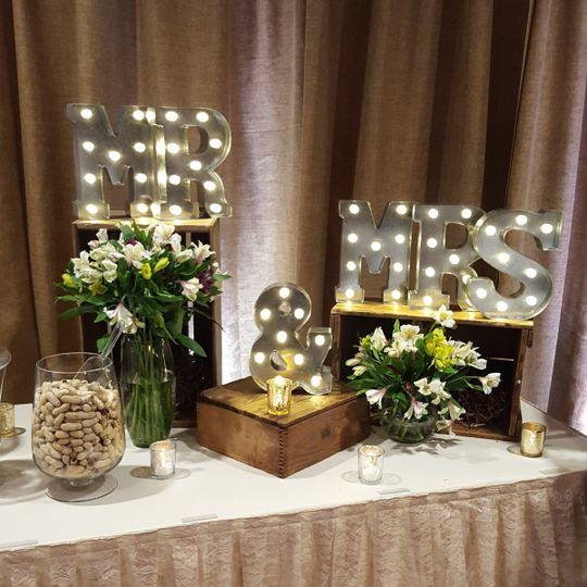 letters mr mrs lights