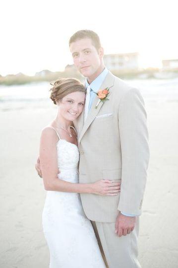 Bride and Groom, Tybee Island GA
