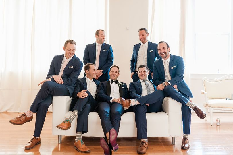 Groom and his court