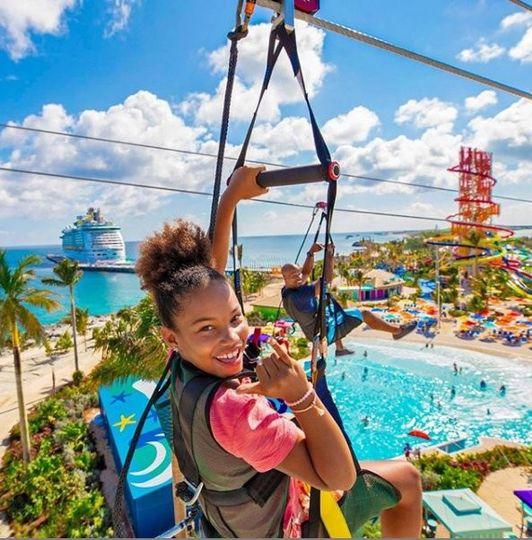 Zipline CaribbeanCruise Fun