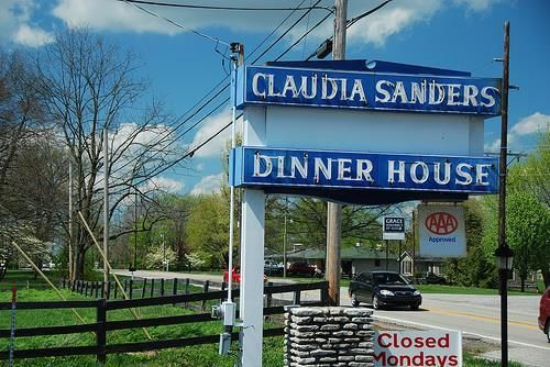 Claudia Sanders Dinner House signage