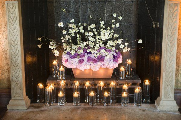 Candlelit and floral decor