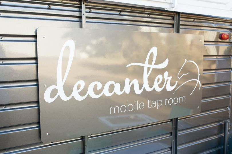 Decanter was a vintage horse trailer, turned into a mobile bar!
