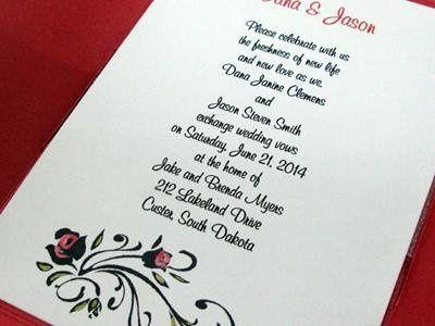 Tmx 1246588601897 Roseflourish1 Newburgh wedding invitation