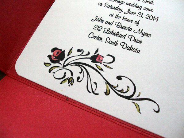 Tmx 1246588626319 Roseflourish2 Newburgh wedding invitation