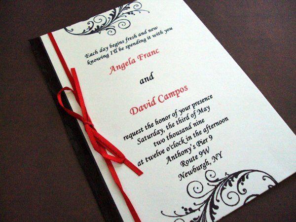 Tmx 1256842879555 Ribbonflourish2 Newburgh wedding invitation