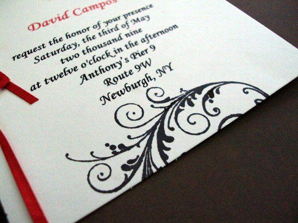 Tmx 1256842926727 Ribbonflourish4 Newburgh wedding invitation
