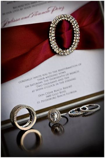 Rings and Wedding Invitation