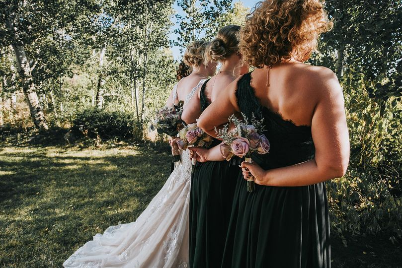 Bridesmaid glamour