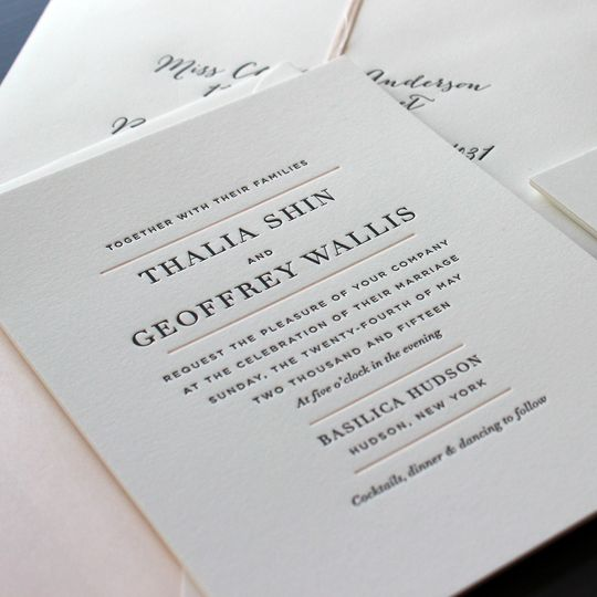 Good ... 800x800 1472586852188 Hudson Ny Modern Letterpress Wedding Invitation 1  ...