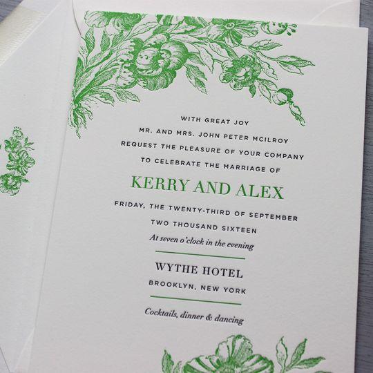 Sesame Letterpress - Invitations - Brooklyn, NY - WeddingWire