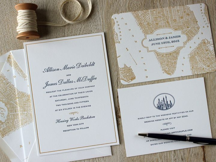 Tmx 1472589838071 Allisonset Brooklyn wedding invitation