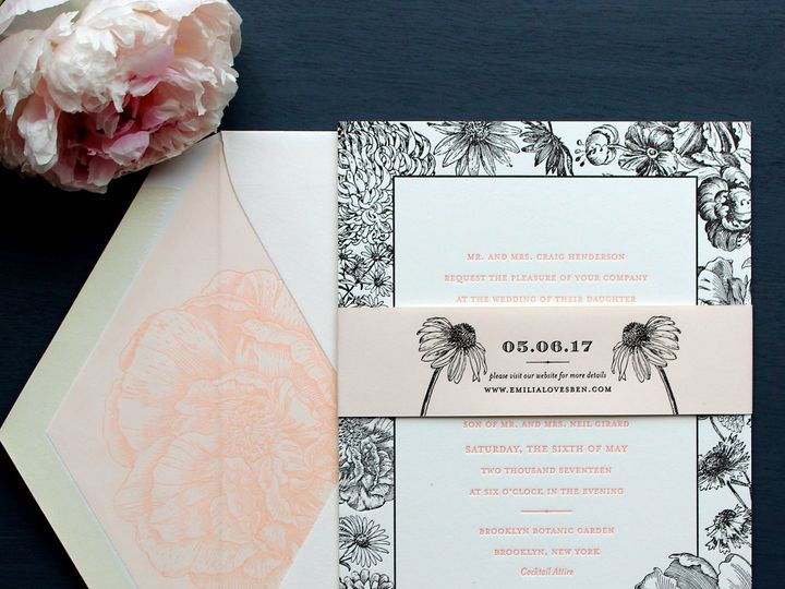 Tmx 1515700117 E4ee794ff3aa51a3 1515700115 292ac66b642d8de3 1515700111822 2 Wildflower Invitat Brooklyn wedding invitation