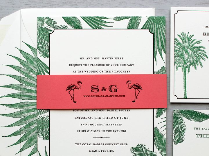 Tmx 1515700181 760ac50772c53ab5 1515700178 5b4719ffbf01ba30 1515700170900 5 Palm Tree Invitati Brooklyn wedding invitation