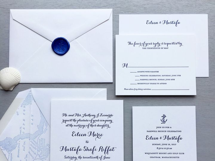 Tmx 1515700254 199f4c2db7e3d0e9 1515700250 D2a5319488052b0e 1515700247021 8 Modern Script Suit Brooklyn wedding invitation