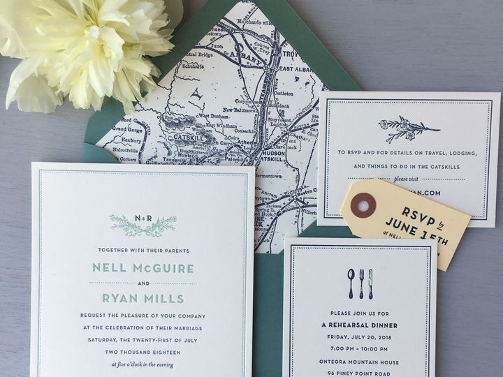 Tmx 1534451514 73aa211ab58ad900 1534451511 D355cab28543e12a 1534451510656 1 Blossoms Nell McGu Brooklyn wedding invitation